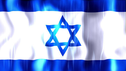 Israel Flag stock footage