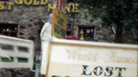 1959: World Famous Lost Gold Mine tourist attraction Footage