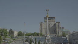 The Central Square Of Kiev (Kyiv) . The Independence Square stock footage