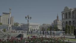 Timelapse Kiev (Kyiv) Ukraine. Independence Square Footage