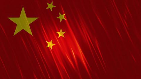 China Flag Loopable Background Animation