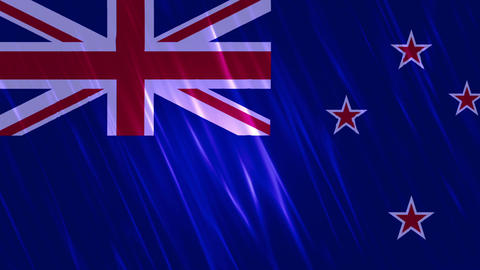 New Zealand Flag Loopable Background Animation