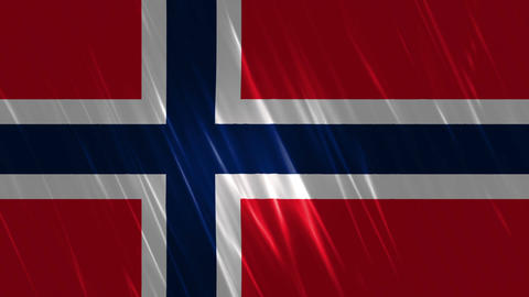 Norway Flag Loopable Background Animation