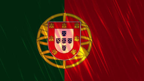Portugal Flag Loopable Background Animation