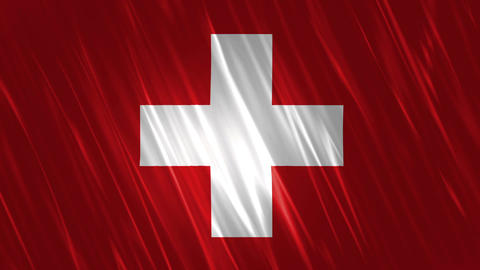 Switzerland Flag Loopable Background Animation