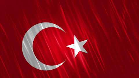 Turkey Flag Loopable Background Animation