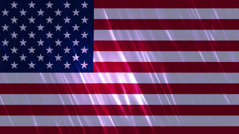 United States of America Flag Loopable Background Animation