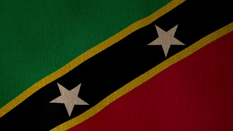 Flag Saint Christopher and Nevis 01 Live Action