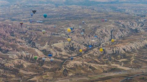Balloon ride in Capadocia, Turkey フォト