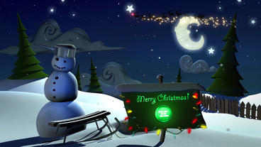 Christmas Snowman After Effects Template