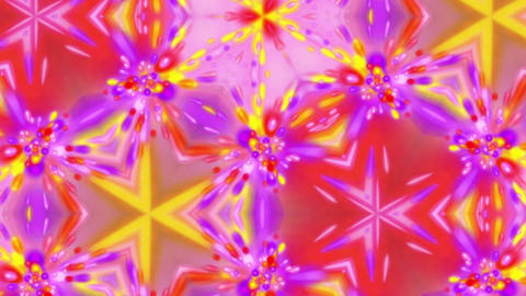 Psychedelic Kaleidoscope Bright Glowing Pattern Motion Background Loop 2 Animation