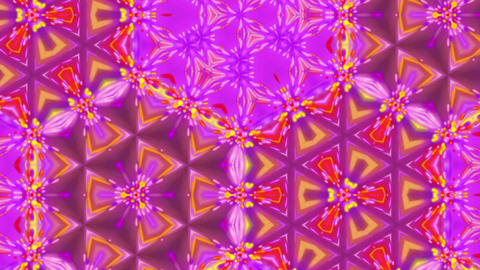 Psychedelic Detailed Kaleido Bright Glowing Pattern Motion Background Loop 2 Animation