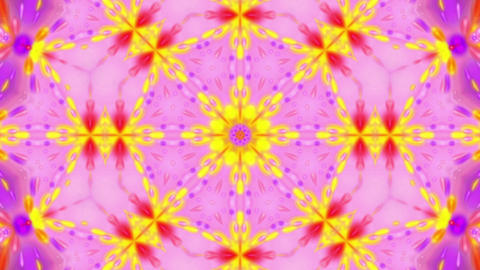 Psychedelic Kaleidoscope Bright Glowing Bursting Motion Background Loop 2 Animation