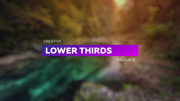 Modern Lower Thirds Plantilla de After Effects