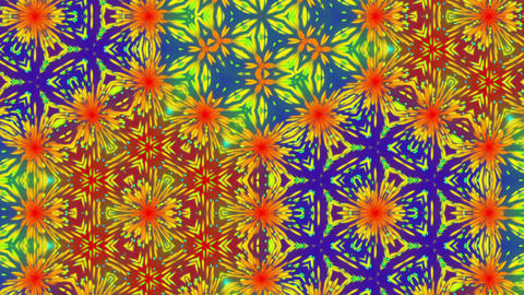 Colorful Kaleidoscope Pattern Fractal Abstract Motion Background Loop 2 Animation