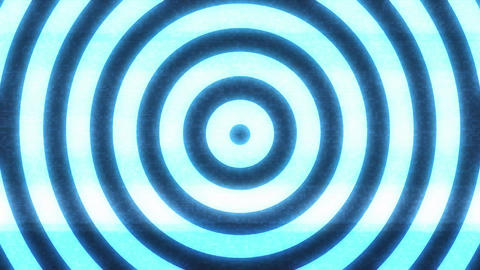 Hypnotic Background With Seamless Looping Circles Animation