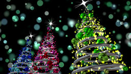 Christmas background. Magic trees Animation