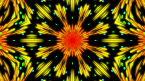 Colorful Dark Kaleidoscope Detailed VJ Abstract Motion Background Loop 1 Animation