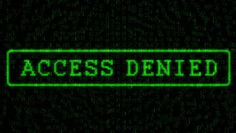 Access Denied - Digital Data Code Matrix Animation