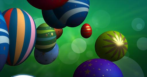 Flying Easter Eggs CG動画素材
