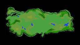 Paint Turkey Map Animation