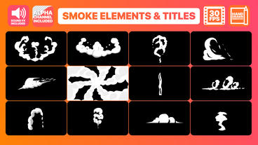 Hand Drawn Smoke Elements Transitions And Titles Motion Graphics Template