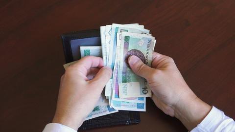 Polish zloty - zl money banknotes Footage