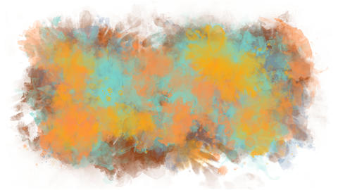 Background from multi-colored paint stains Animation