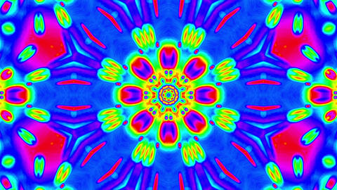 Psychedelic Colorful Kaleidoscope VJ Abstract Motion Background Loop 3 Animation