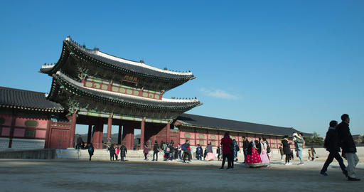 Time lapse of Gyeongbokgung palace Live Action