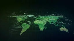 World Map Green Hologram Animación