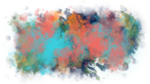 Bright spots of paint on a transparent background Animation