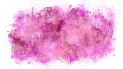 Animation of gently pink watercolor Animation