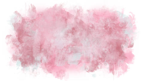 Pastel background from watercolor stains Animation