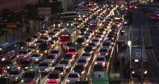 Night Traffic Timelapse Shot-closeup Footage