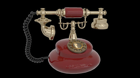 Vintage Desk phone Animation