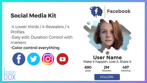 Social Media Kit After Effects Template