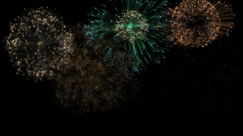 Fireworks for New Year celebration Animation