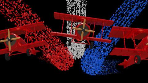 Bi Plane Flyover Animation Animación