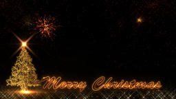 Christmas golden Happy New Year 2019 light shine particles bokeh fireworks loop Animation