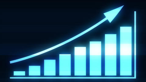 4k Business Growth And Success Arrow Infographics Animation