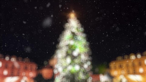 Blinking Christmas Tree Lights Blurred CG動画素材