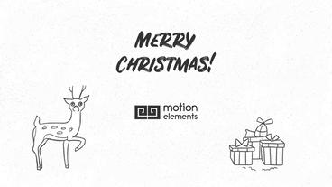 Hand Drawn Christmas Wishes Premiere Pro Template