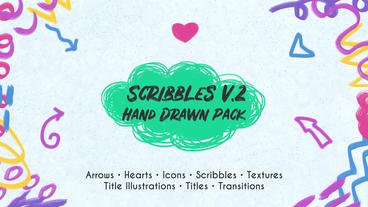 Scribbles v.2. Hand Drawn Pack Premiere Proテンプレート