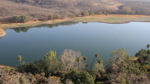 Dry lake in the dry mountains Satpura Live Action