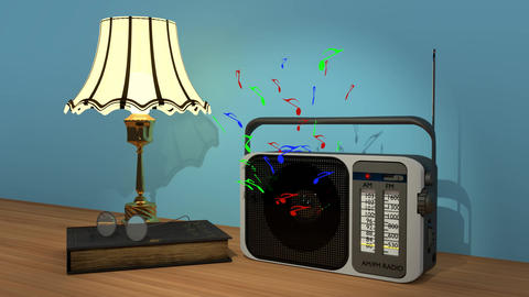 Animated Am/Fm Radio Animation