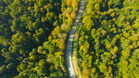 Aerial landscape view of the road Footage