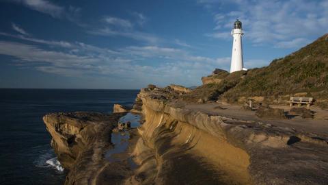 New Zealand Castlepoint lighthouse Footage