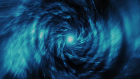Blue Energy Vortex Tunnel Loopable Motion Background Animation