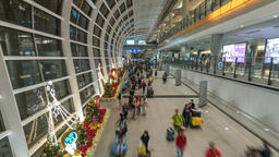Hong Kong time lapse 4K, timelapse at Hong Kong International Airport with Footage